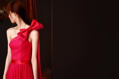 Silk gown