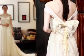 Bridal wear (back detail)