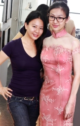 Queenie with beutiful client