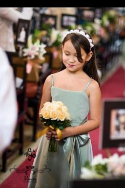 lee ann in flowergirl dress