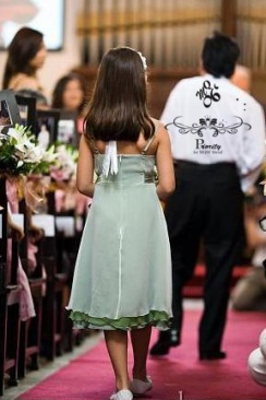 leeann iin flowergirl dress