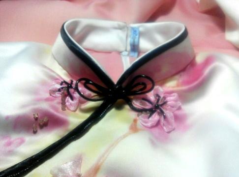 Details of Hand Painted Cheongsam