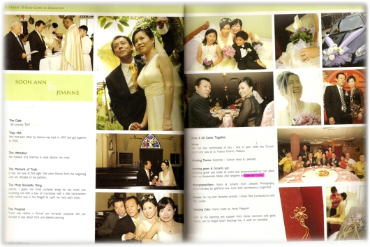 Customer bridal gown feat in magazine